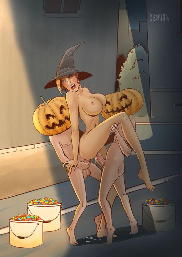 Halloween Group Hentai