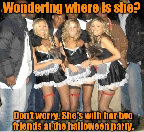It's going to be goood halloween this year… 4 those guys and your gf's slut-band ofc