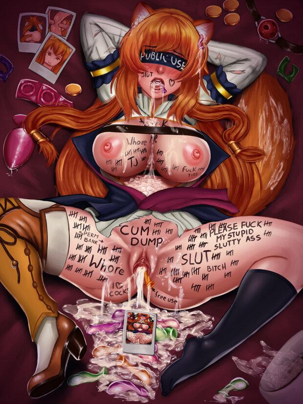 Raphtalia in bdsm roleplay sex