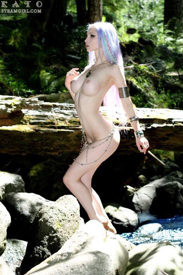 Sexy Kato in the river