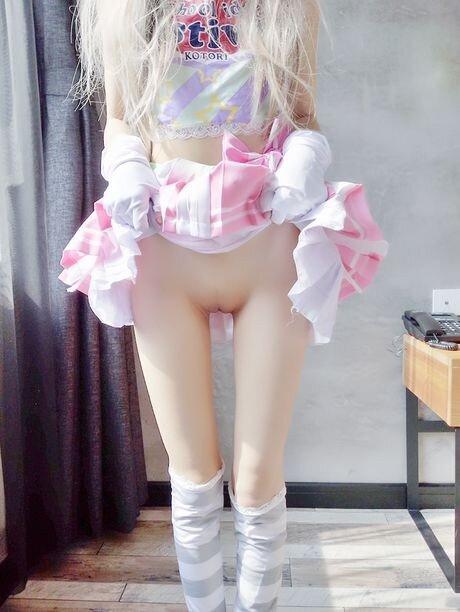 Small body teen cosplaying kotori