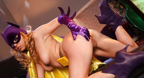 The very sexy Lexi Belle cosplaying one hot batgirl 8