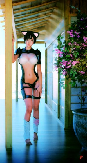 3D Babe Asian Beauty in Hottest Cosplay Costume