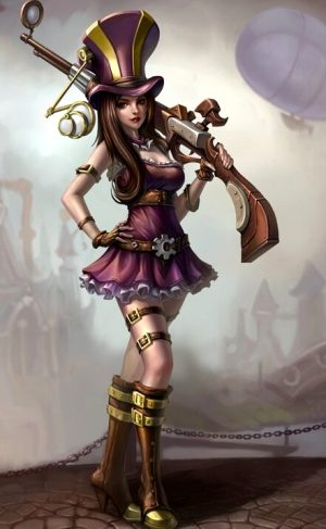Caitlyn, League of Legends, Steampunk Babe