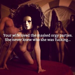 caption orgy mask