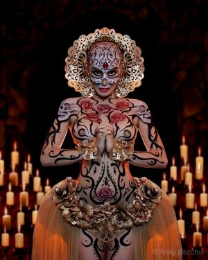 Day of the Dead Costume and Bodypaint