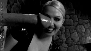 dominatrix rejoices to see her slave having a ruined orgasm