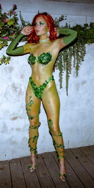 Halsey as Poison Ivy for Halloween