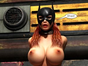Hot babe from batman in mask and tied up – awesome bdsm porn comic