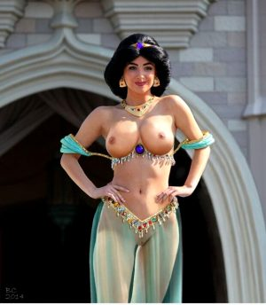 Jasmine's new costume…Hot.!!