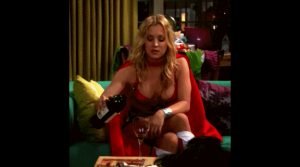 Kaley Cuoco at a Super costume Party!?