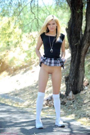 Kimberly Kato skirt up