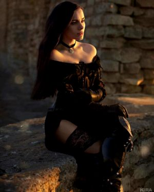 Kira cosplaying sexy Yennefer from Witcher 3
