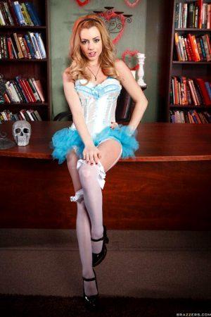 Lexi Belle in her Halloween costume.