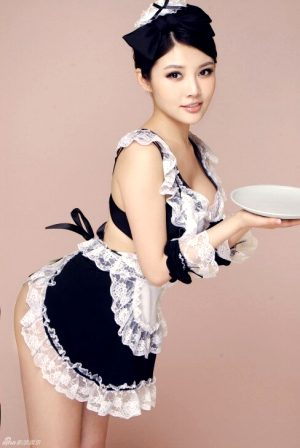 #maid #uniform #fantasy #bow #roleplay #apron #lingerie #asian #oriental #NonNude #sexy #awesome #pretty #cute #lovely #big #brunette #hot