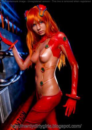 Naked Asuka Cosplay