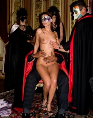 Naked at the costume party.