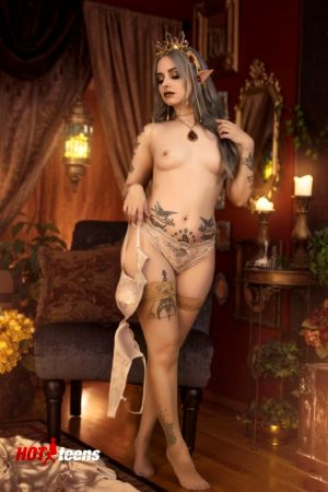 Naked Costume Golden Elf