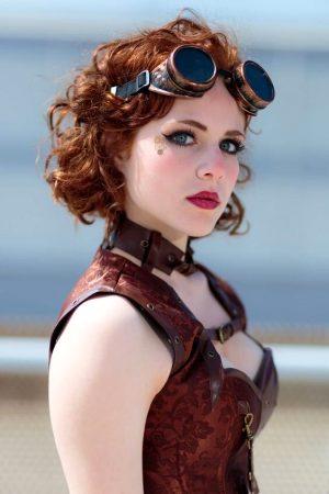 Redheaded Steampunk Cosplay Cutie