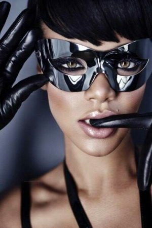 Rihanna In Black Mask
