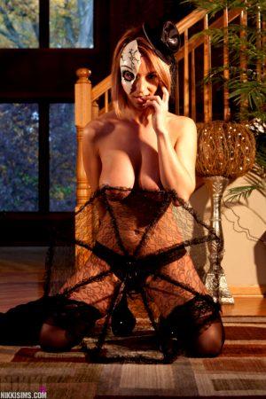 Sexy Nikki Sims Celebrates Halloween 2014