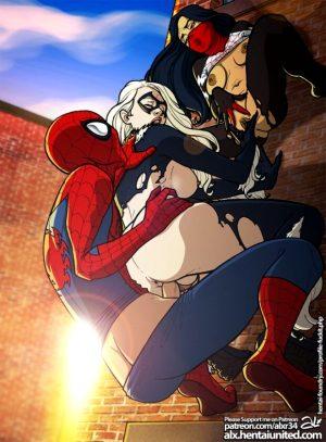 Spider-Man – Fuckit – Spider-Man, Domino Mask, Felicia Hardy