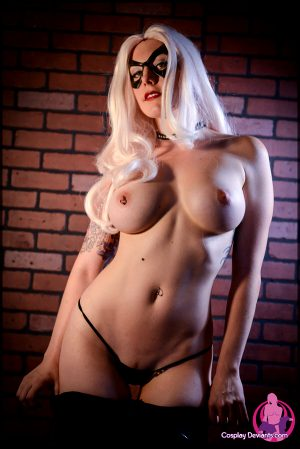 Squee as Black Cat for Cosplay Deviants