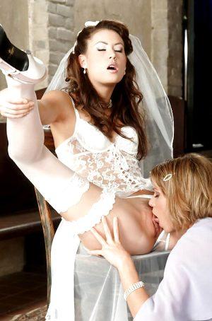 Superb lesbian lingerie in a incredible vagina uniform photo
