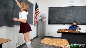 Uniform upskirt