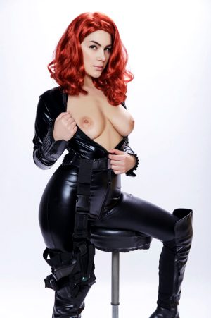 Valentina Nappi VR Cosplay in costume of Black Widow Avengers parody